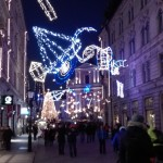 Festively decorated Ljubljana