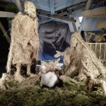 Nativity scene made of straw, Ljubljana
