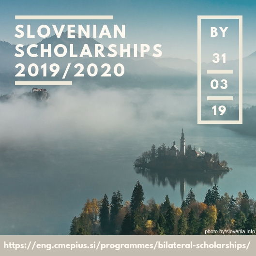 Slovenian Scholarships for 2019/2020 - Study in