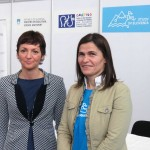 Minister of Education, Science and Sport Maja Makovec Brenčič with the director of the national agency CMEPIUS Alenka Flander
